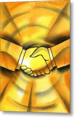 Cooperation Metal Print by Leon Zernitsky
