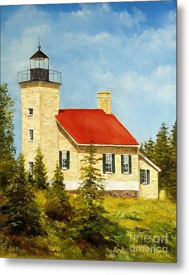 Copper Harbor Lighthouse Metal Print by Lee Piper