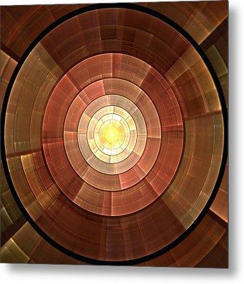 Copper Shield Metal Print by Anastasiya Malakhova