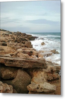 Coquina Style Metal Print by Julie Wilcox