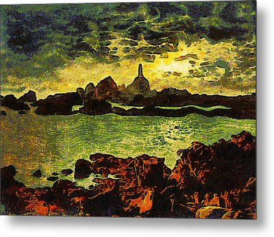 Corbiere Lighthouse Metal Print by Unknown