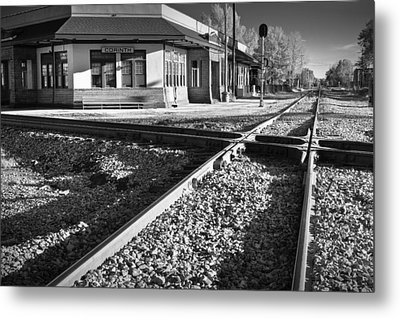 Corinth Station Metal Print by Harry H Hicklin