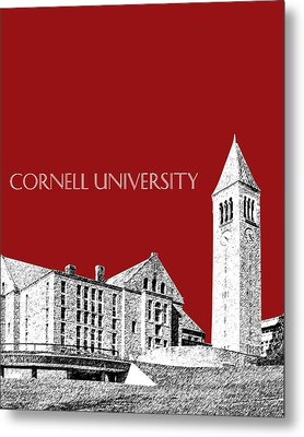 Cornell University - Dark Red Metal Print by DB Artist