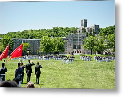Corps Of Cadets Present Arms Metal Print by Dan McManus