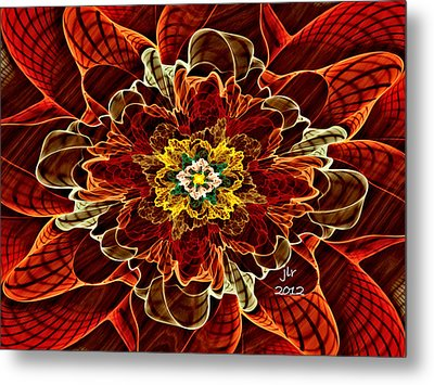 Corsage Metal Print by Janet Russell