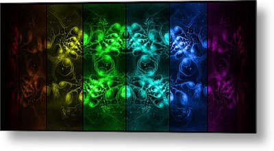 Cosmic Alien Eyes Pride Metal Print by Shawn Dall