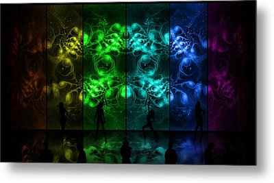 Cosmic Alien Vixens Pride Metal Print by Shawn Dall