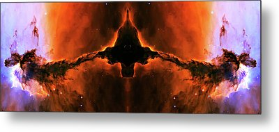 Cosmic Fire Fish Metal Print by The  Vault - Jennifer Rondinelli Reilly