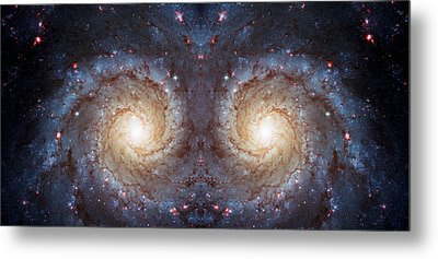 Cosmic Galaxy Reflection Metal Print by The  Vault - Jennifer Rondinelli Reilly