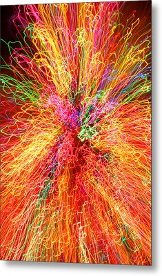 Cosmic Phenomenon Or Christmas Lights Metal Print by Barbara West