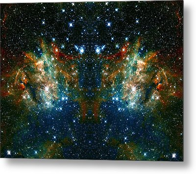 Cosmic Phoenix  Metal Print by Jennifer Rondinelli Reilly - Fine Art Photography