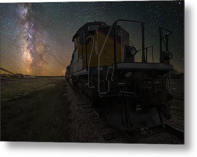 Cosmic Train Metal Print by Aaron J Groen