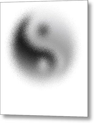 Cosmic Yin Yang Metal Print by Daniel Hagerman