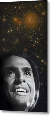 Cosmos- Carl Sagan Metal Print by Simon Kregar