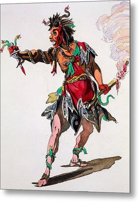 Costume Design For A Fury Metal Print by French School