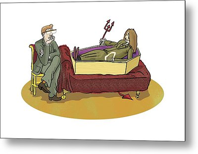 Cotard Syndrome, Conceptual Artwork Metal Print by Science Photo Library