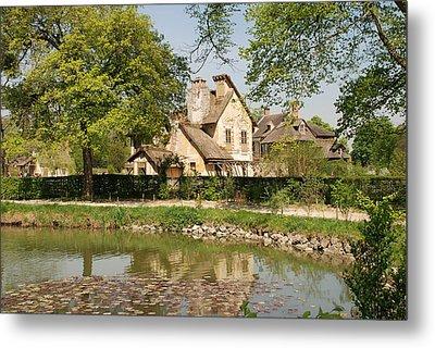 Cottage In The Hameau De La Reine Metal Print by Jennifer Ancker