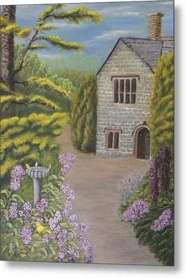 Cottage In The Woods Metal Print by Lou Magoncia