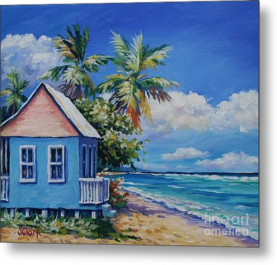 Cottage On The Beach Metal Print by John Clark