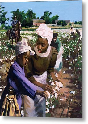Cotton Pickers Metal Print by Colin Bootman