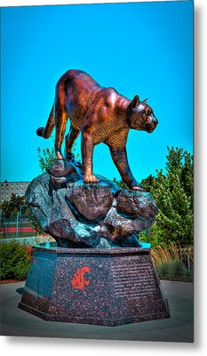 Cougar Pride Sculpture - Washington State University Metal Print by David Patterson
