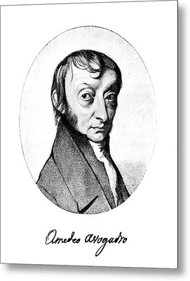 Count Amedeo Avogadro (1776-1856) Metal Print by Granger