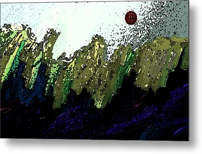 Country Abstract Metal Print by Lenore Senior
