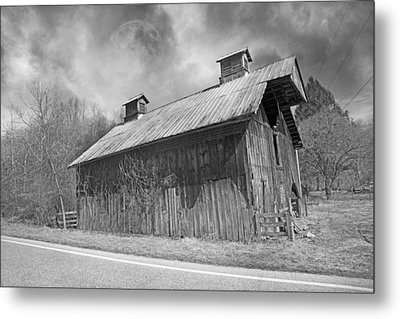 Country Barn Country Moon Country Metal Print by Betsy Knapp