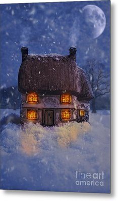 Country Cottage Metal Print by Amanda Elwell