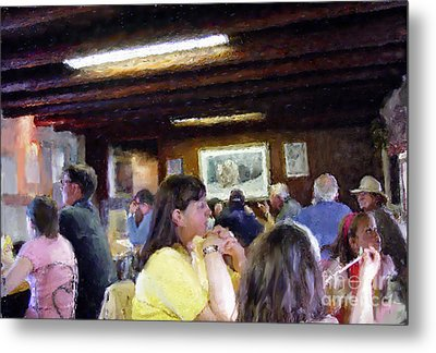 Country Diner Metal Print by Ursula Freer