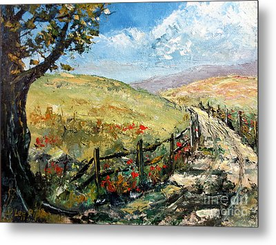 Country Road Metal Print by Lee Piper