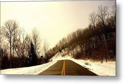 Country Roads Take Me Home Metal Print by Danielle  Broussard