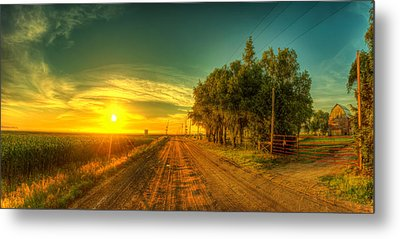 Country Sunrise Metal Print by  Caleb McGinn
