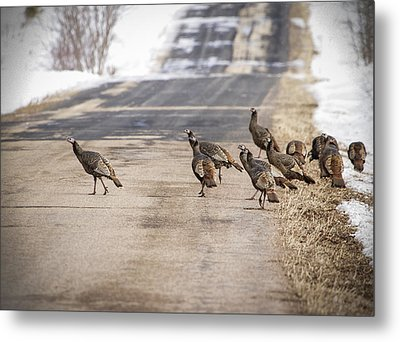 County Road Crew Metal Print by Thomas Young