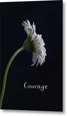 Courage Metal Print by Kim Andelkovic