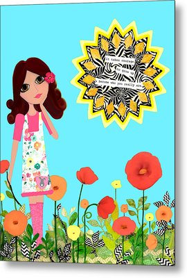 Courage Metal Print by Laura Bell