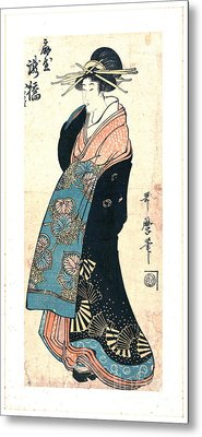 Courtesan Takihashi Ogi-ya 1800 Metal Print by Padre Art