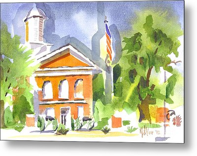 Courthouse Abstractions II Metal Print by Kip DeVore