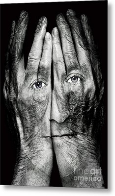 Cover Thy Faces Metal Print by Gary Keesler
