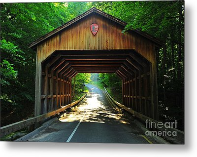 Covered Bridge At Sleeping Bear Dunes National Lakeshore Metal Print by Terri Gostola
