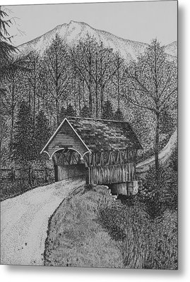 Covered Bridge Metal Print by Christine Brunette