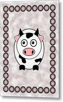 Cow - Animals - Art For Kids Metal Print by Anastasiya Malakhova