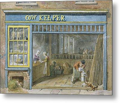 Cow Keeper Metal Print by George the Elder Scharf