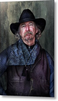 Cowboy Metal Print by Barbara Manis