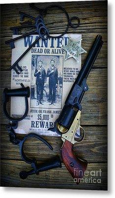 Cowboy - Law And Order Metal Print by Paul Ward