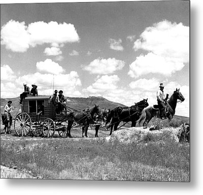 Cowboy Wagon Ride Metal Print by Retro Images Archive
