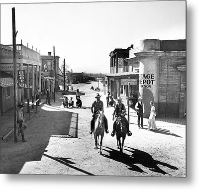 Cowboys Come Into Town Metal Print by Retro Images Archive