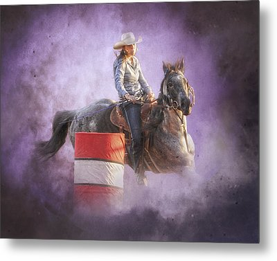 Cowgirls Dream Metal Print by Ron  McGinnis