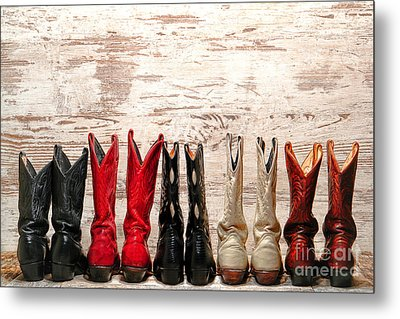 Cowgirls Night Out Metal Print by Olivier Le Queinec