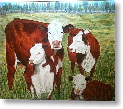 Cows Four Metal Print by Lee Halbrook